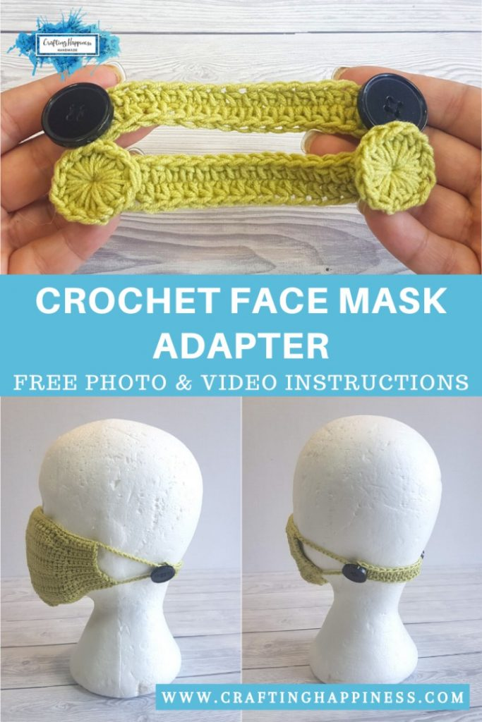 Crochet Face Mask Adapter EVEN IF YOU DON'T HAVE BUTTONS PINTEREST POSTER 4