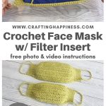 Crochet Face Mask With Filter Insert (Child & Adult) PINTEREST POSTER 3