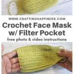 Easy Crochet Face Mask With Filter Pocket PINTEREST POSTER 3
