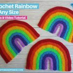 Set of 3 crochet rainbows