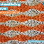 Textured Rolling Waves Stitch Easy For Beginners FACEBOOK POSTER