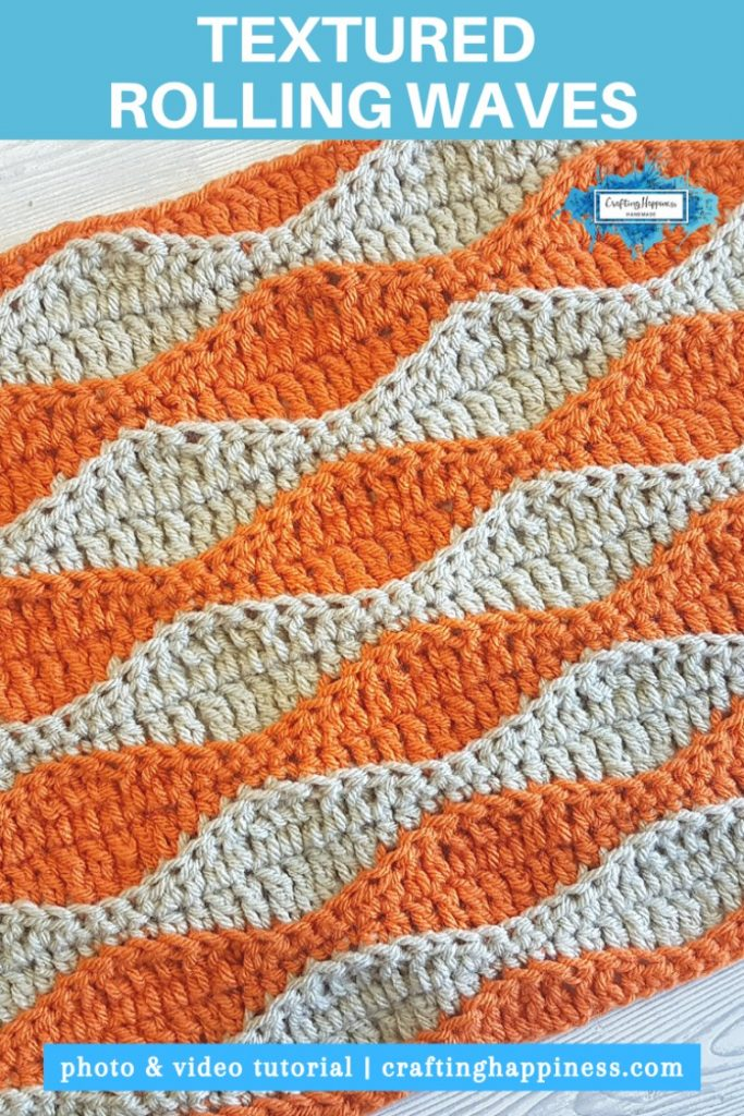 Textured Rolling Waves Stitch Easy For Beginners PINTEREST POSTER 3
