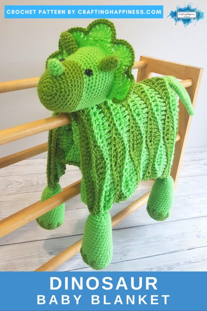 Dino Baby Blanket By Crafting Happiness PINTEREST POSTER 2