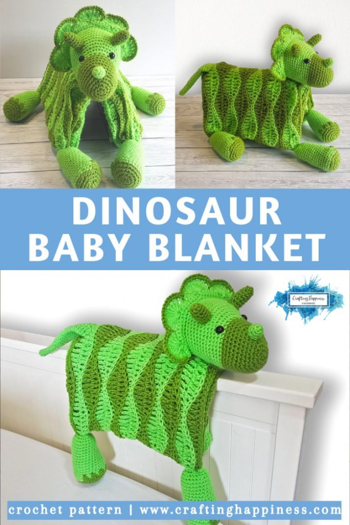 Dino Baby Blanket By Crafting Happiness PINTEREST POSTER 4