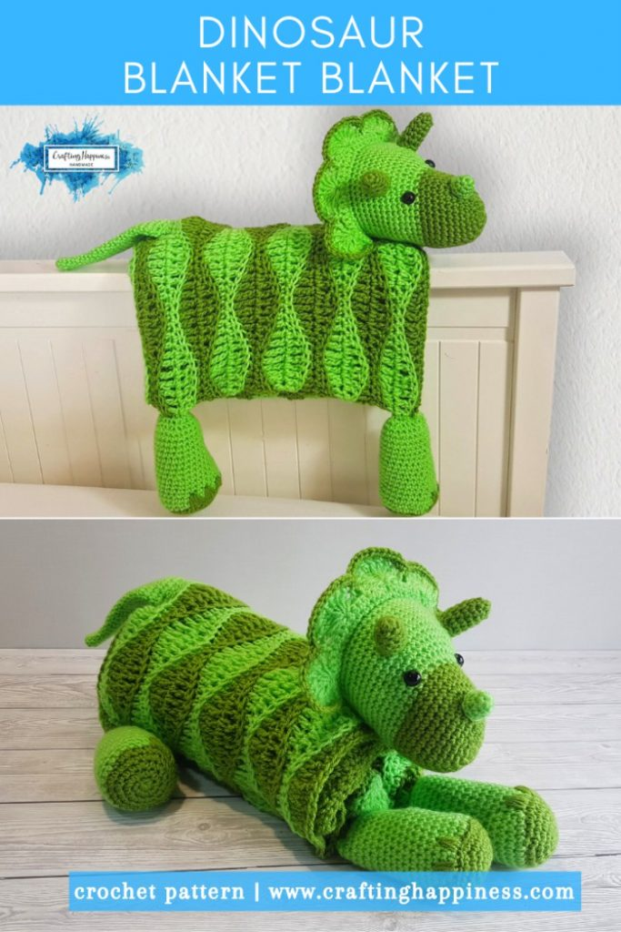 Dino Baby Blanket By Crafting Happiness PINTEREST POSTER 6