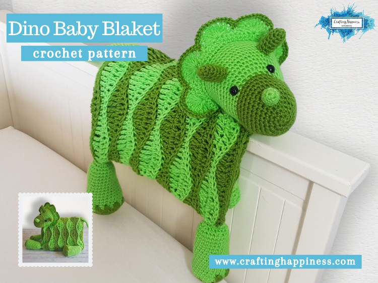 Dino Baby Blanket by Crafting Happiness FACEBOOK POSTER