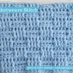 Basketweave Stitch by Crafting Happiness FACEBOOK POSTER