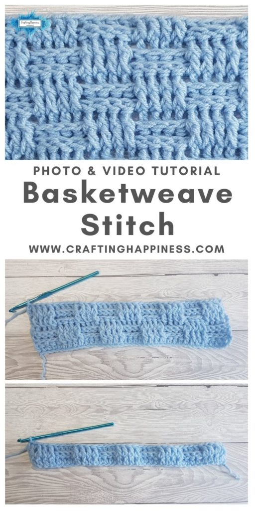 Basketweave Stitch by Crafting Happiness MAIN PINTEREST POSTER 1