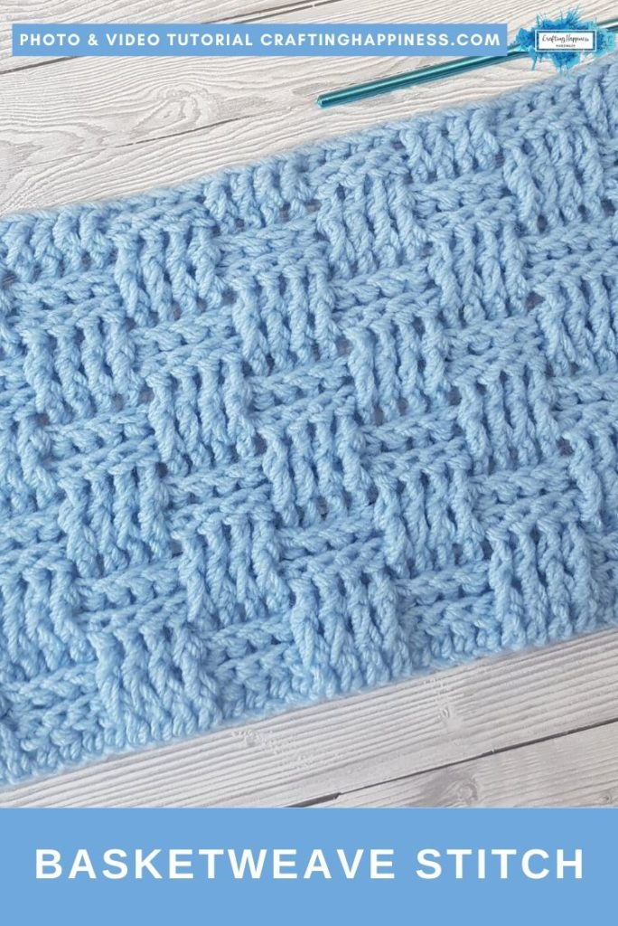 Basketweave Stitch by Crafting Happiness PINTEREST POSTER 2