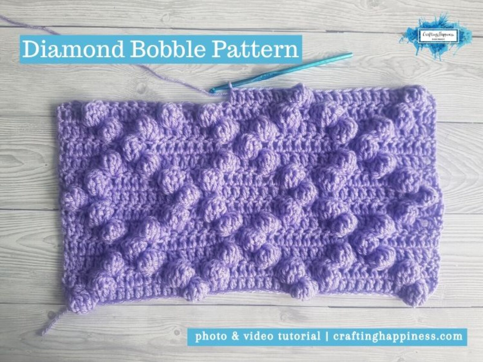 Diamond Bobble Pattern by Crafting Happiness FACEBOOK POSTER