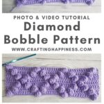 Diamond Bobble Pattern by Crafting Happiness MAIN PINTEREST POSTER 1