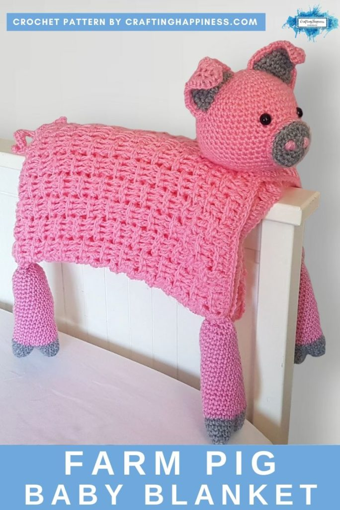 Farm Pig Baby Blanket by Crafting Happiness PINTEREST POSTER 2
