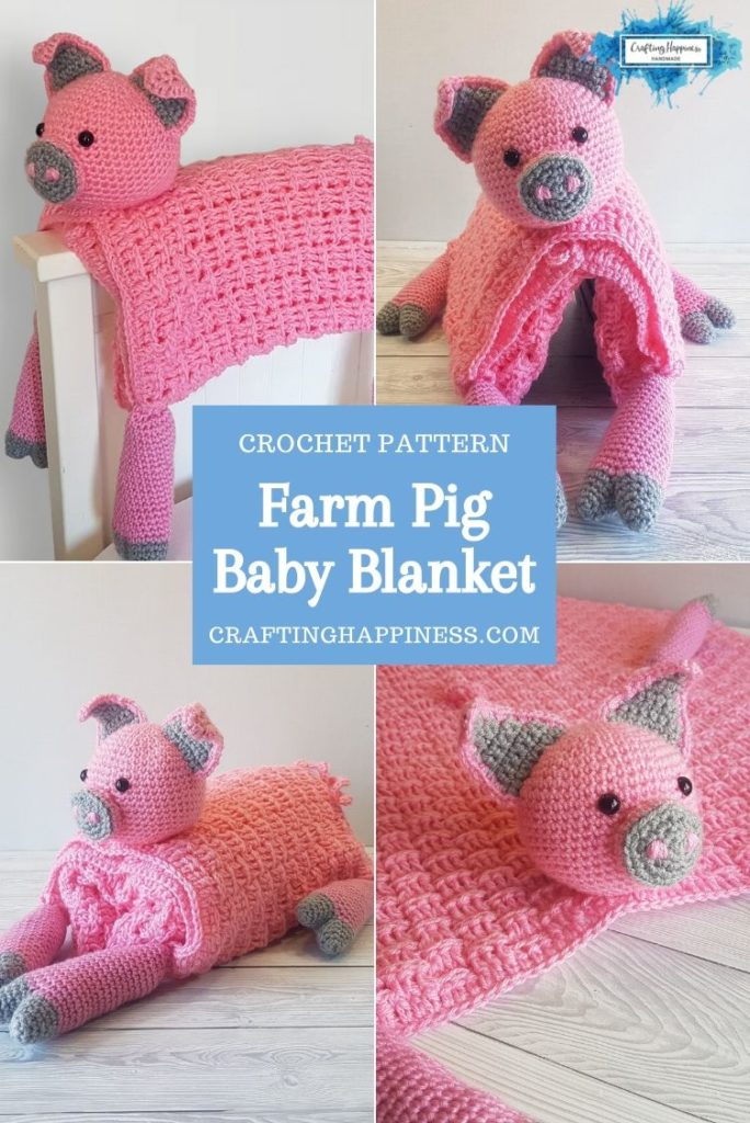 Farm Pig Baby Blanket by Crafting Happiness PINTEREST POSTER 3