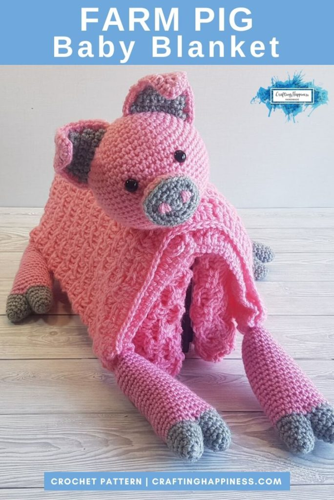 Farm Pig Baby Blanket by Crafting Happiness PINTEREST POSTER 4