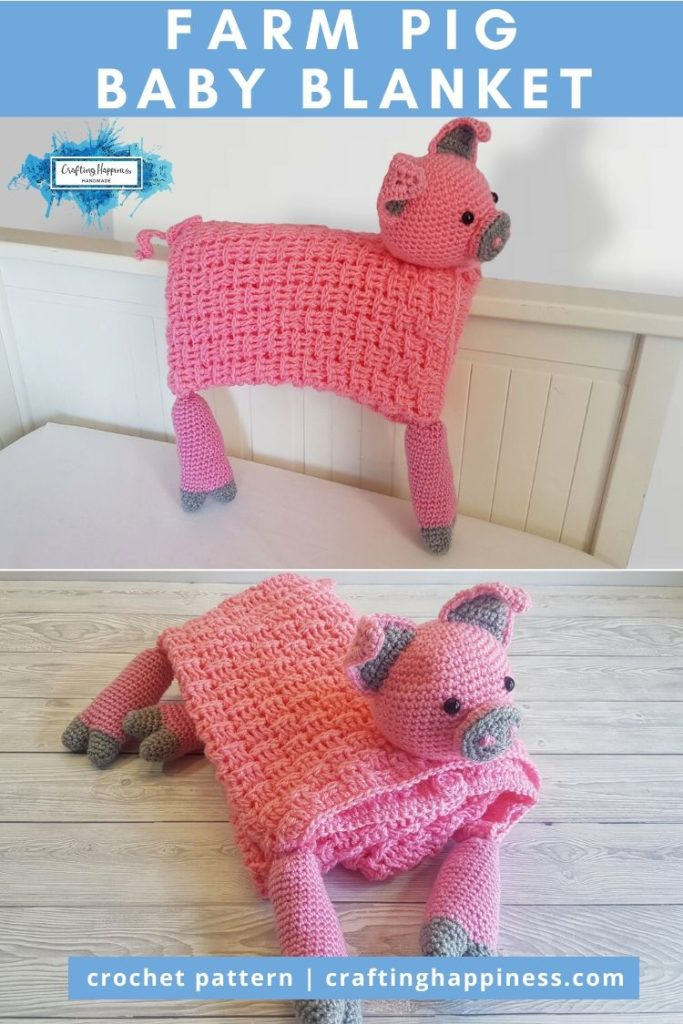 Farm Pig Baby Blanket by Crafting Happiness PINTEREST POSTER 6