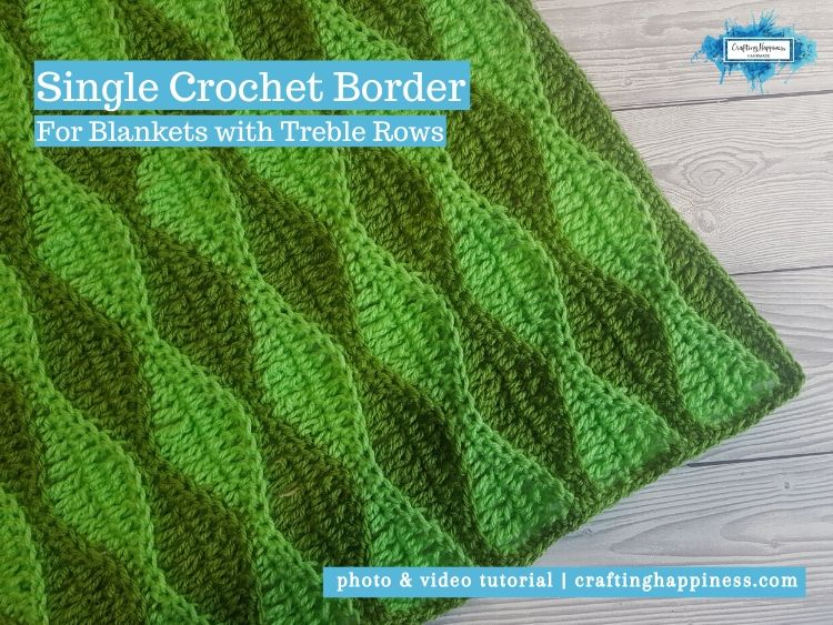 Single Crochet Border by Crafting Happiness FACEBOOK POSTER