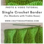 Single Crochet Border by Crafting Happiness MAIN PINTEREST POSTER 1