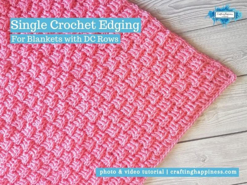 Single Crochet Edging by Crafting Happiness FACEBOOK POSTER