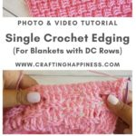 Single Crochet Edging by Crafting Happiness MAIN PINTEREST POSTER 1