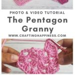 The Pentagon Granny by Crafting Happiness MAIN PINTEREST POSTER 1