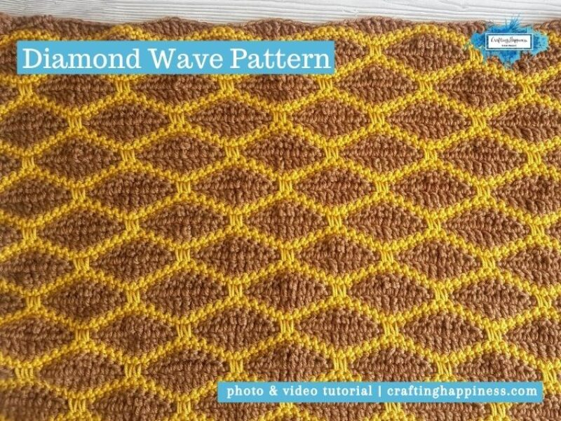 Diamond Wave Pattern by Crafting Happiness FACEBOOK POSTER