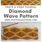 Diamond Wave Pattern by Crafting Happiness MAIN PINTEREST POSTER