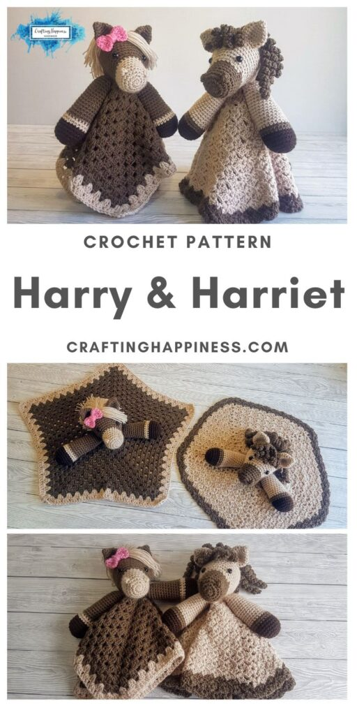 Harry & Harriet Baby Lovey by Crafting Happiness MAIN PINTEREST POSTER 1
