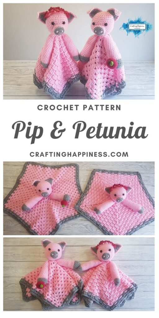 Pip & Petunia Baby Lovey by Crafting Happiness MAIN PINTEREST POSTER 1