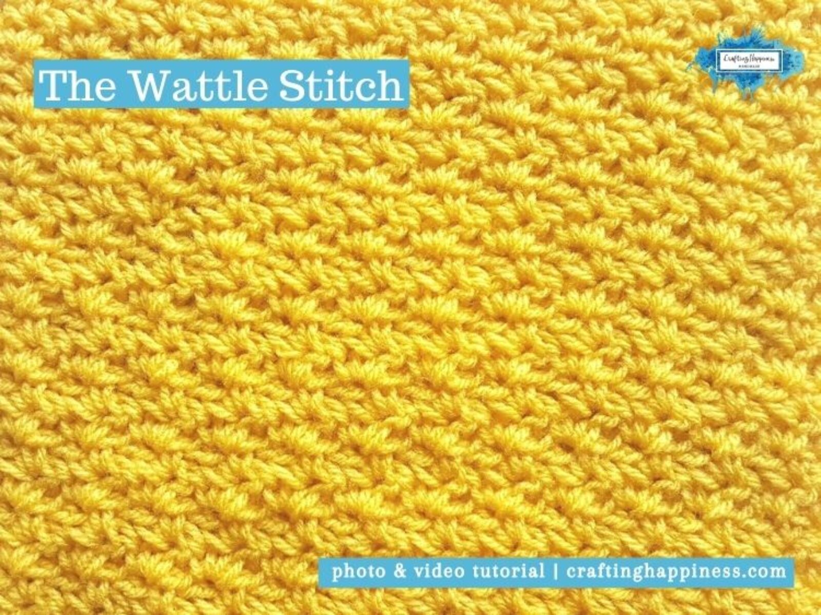 The Wattle Stitch by Crafting Happiness FACEBOOK POSTER