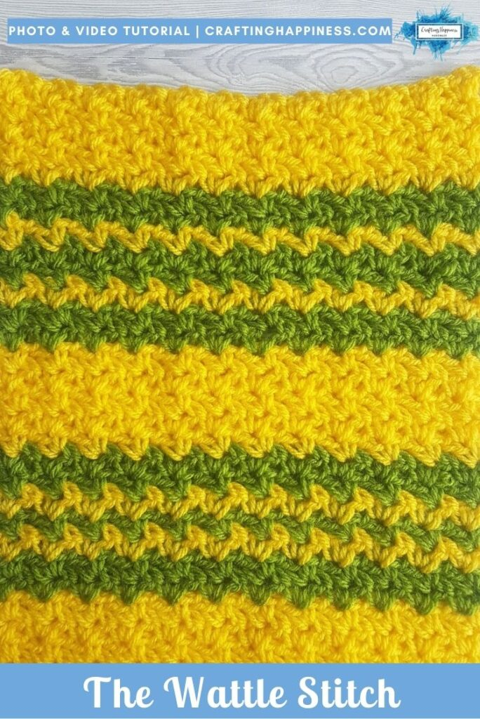The Wattle Stitch by Crafting Happiness PINTEREST POSTER 2