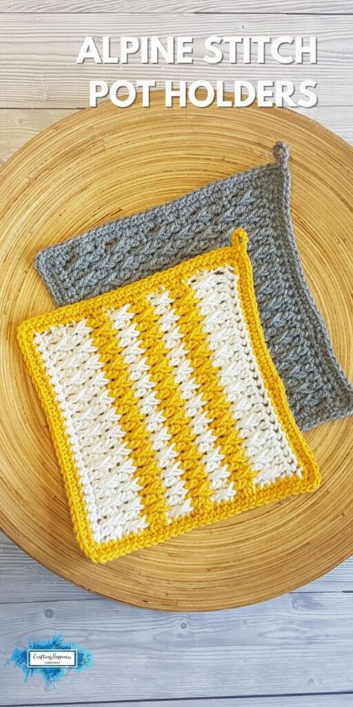 Alpine Stitch Pot Holders _ Crafting Happiness BLOG 1