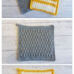 Alpine Stitch Pot Holders by Crafting Happiness MAIN PINTEREST POSTER 1