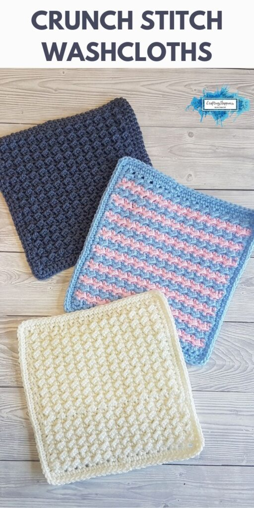 BLOG POSTER PIN 1 - Crunch Stitch Washcloths