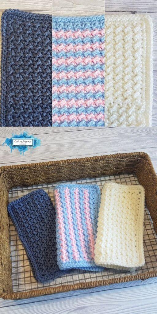 BLOG POSTER PIN 2 - Crunch Stitch Washcloths