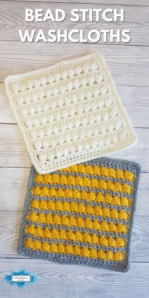Bead Stitch Washcloths _ Crafting Happiness BLOG 1