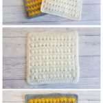 Bead Stitch Washcloths by Crafting Happiness MAIN PINTEREST POSTER 1