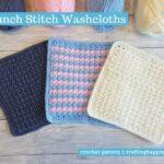 Crunch Stitch Washcloths Facebook Poster