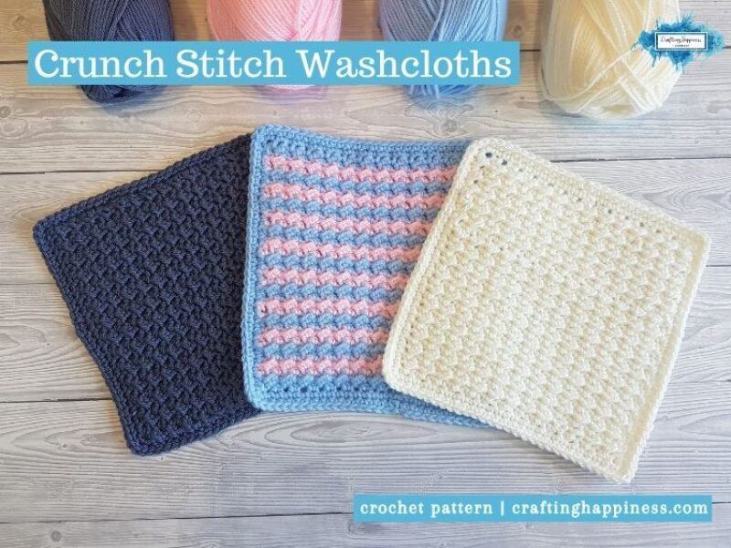 Crunch Stitch Washcloths Facebook Poster