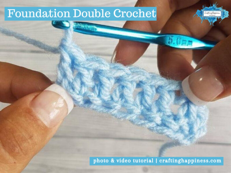 Foundation Double Crochet (FDC) by Crafting Happiness FACEBOOK POSTER