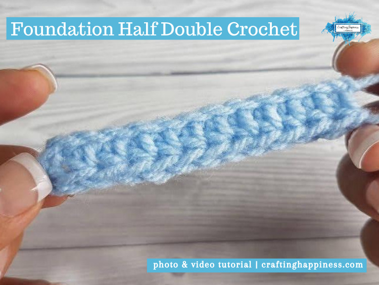 Foundation Half Double Crochet (FHDC) by Crafting Happiness FACEBOOK POSTER