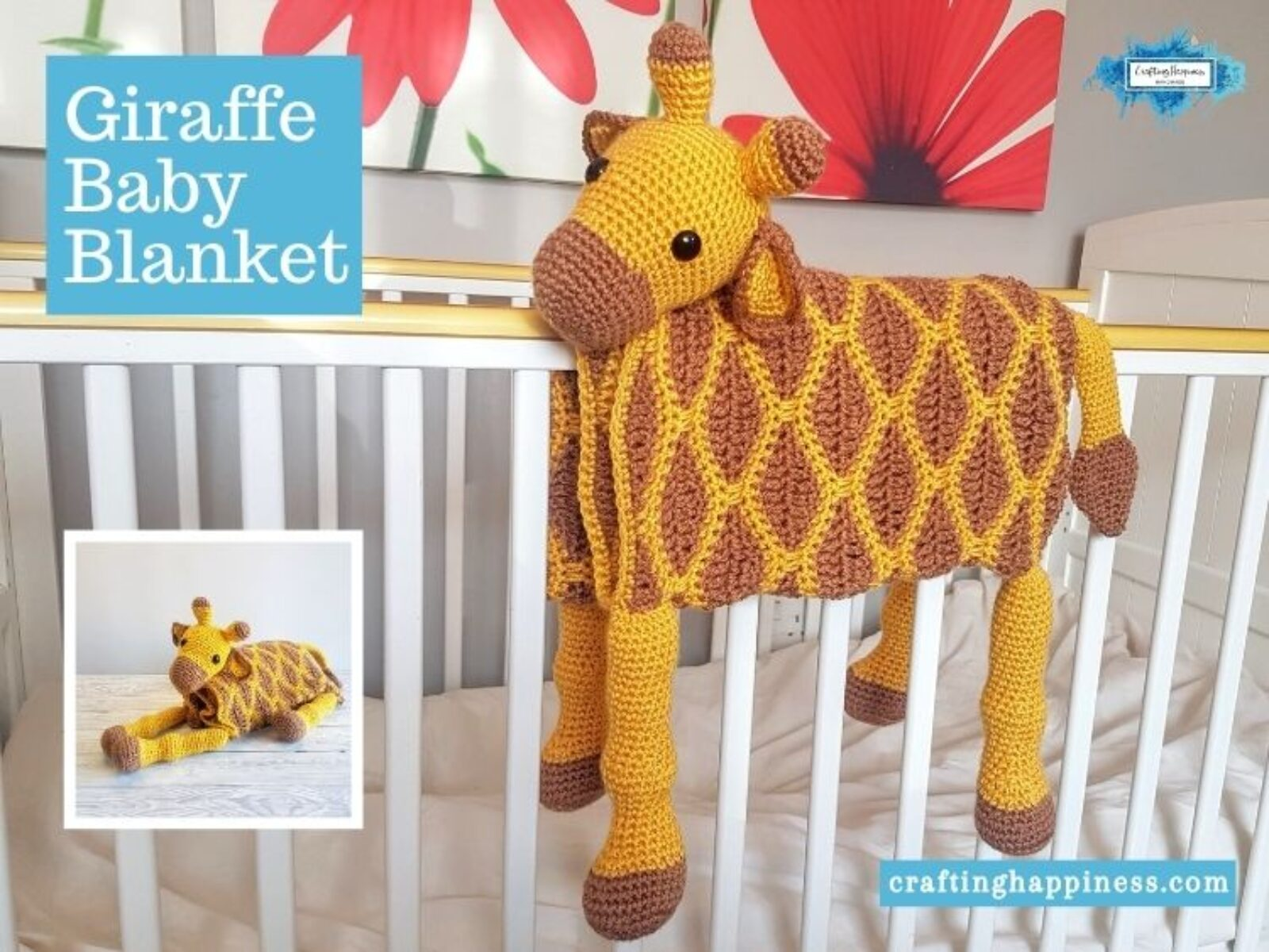 Giraffe Baby Blanket by Crafting Happiness FACEBOOK POSTER
