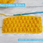 Offset Cobble Stitch by Crafting Happiness FACEBOOK POSTER