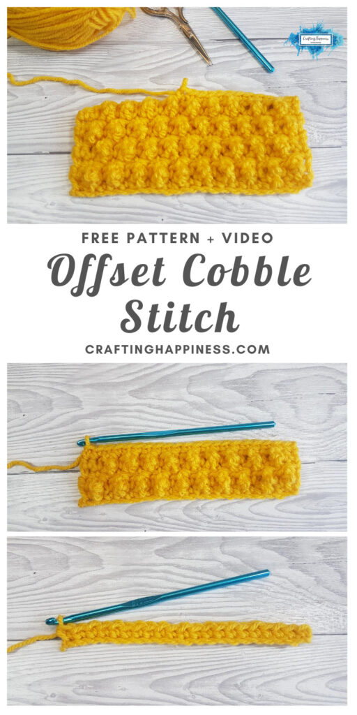 Offset Cobble Stitch by Crafting Happiness MAIN PINTEREST POSTER 1