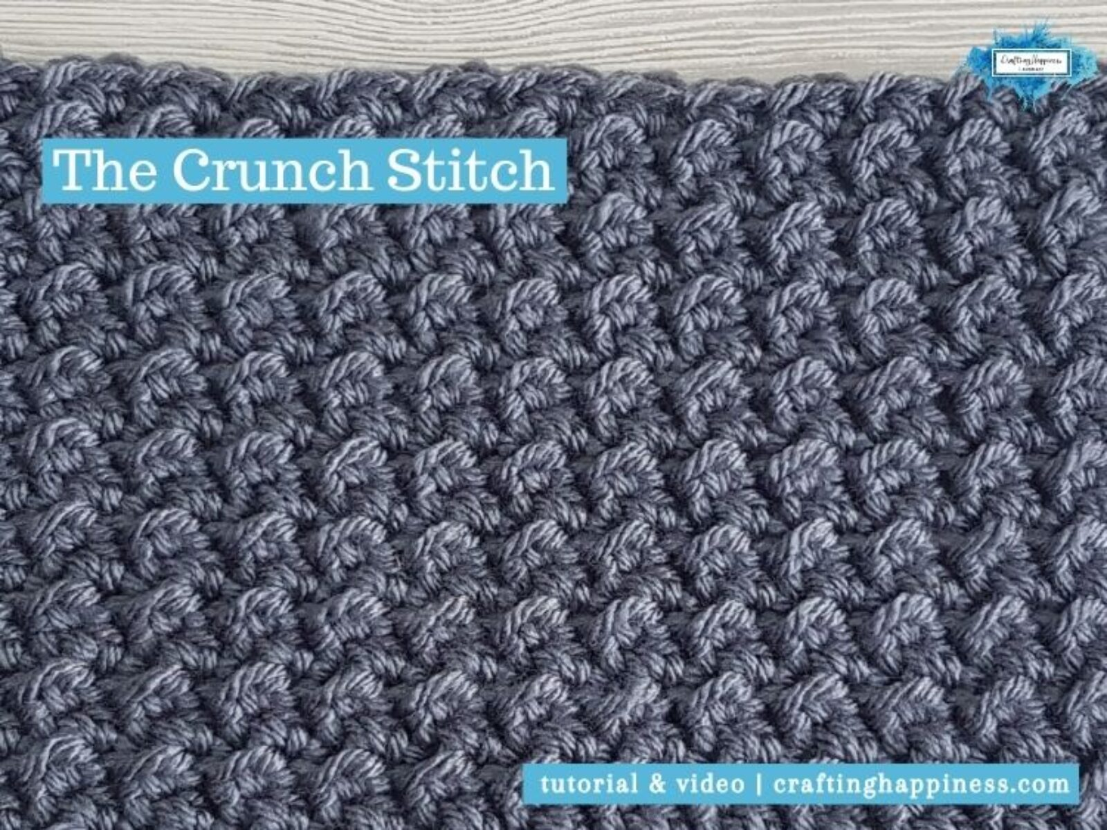 The Crunch Stitch by Crafting Happiness FACEBOOK POSTER