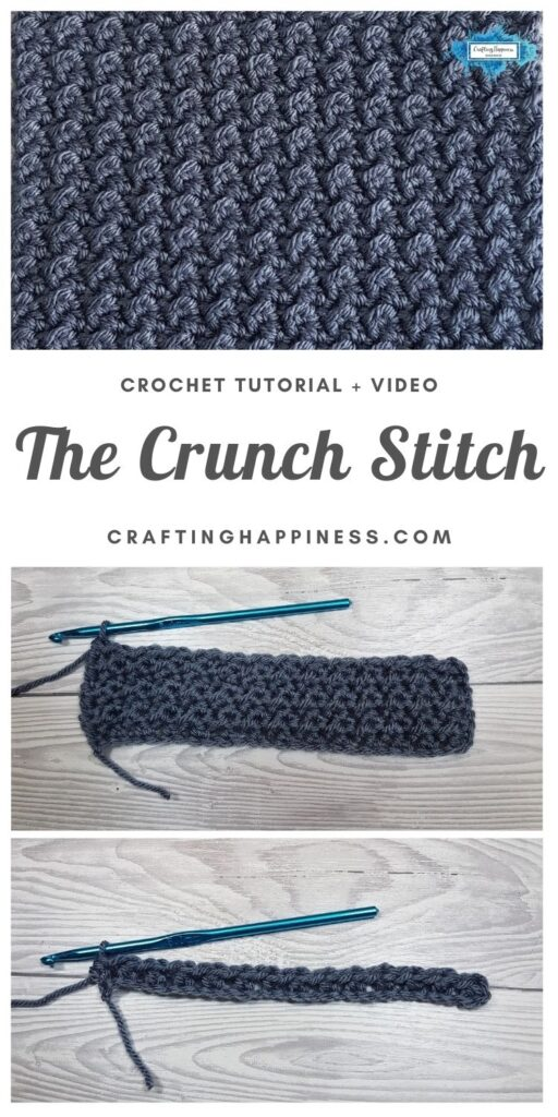 The Crunch Stitch by Crafting Happiness MAIN PINTEREST POSTER 1