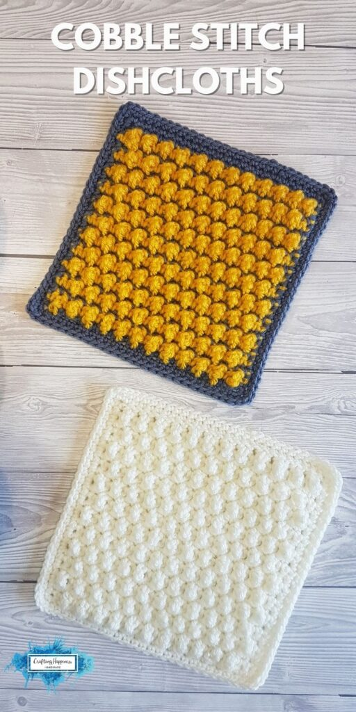 BLOG POSTER PIN 1 - Cobble Stitch Dishcloths