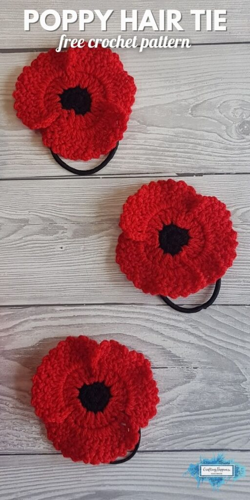 BLOG POSTER PIN 1 - Poppy Hair Tie _ Crafting Happiness