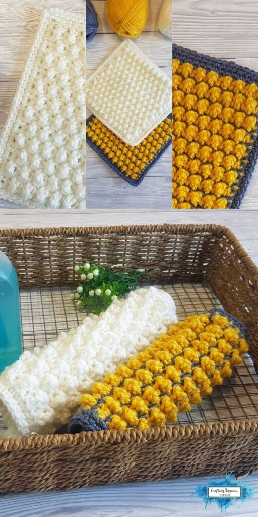 BLOG POSTER PIN 2 - Cobble Stitch Dishcloths