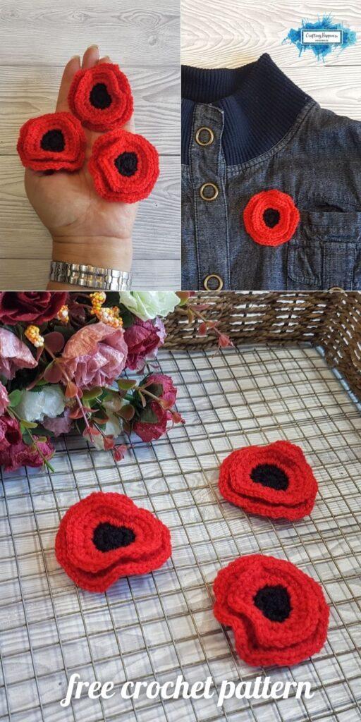 BLOG POSTER PIN 2 - Crochet Poppy Pin