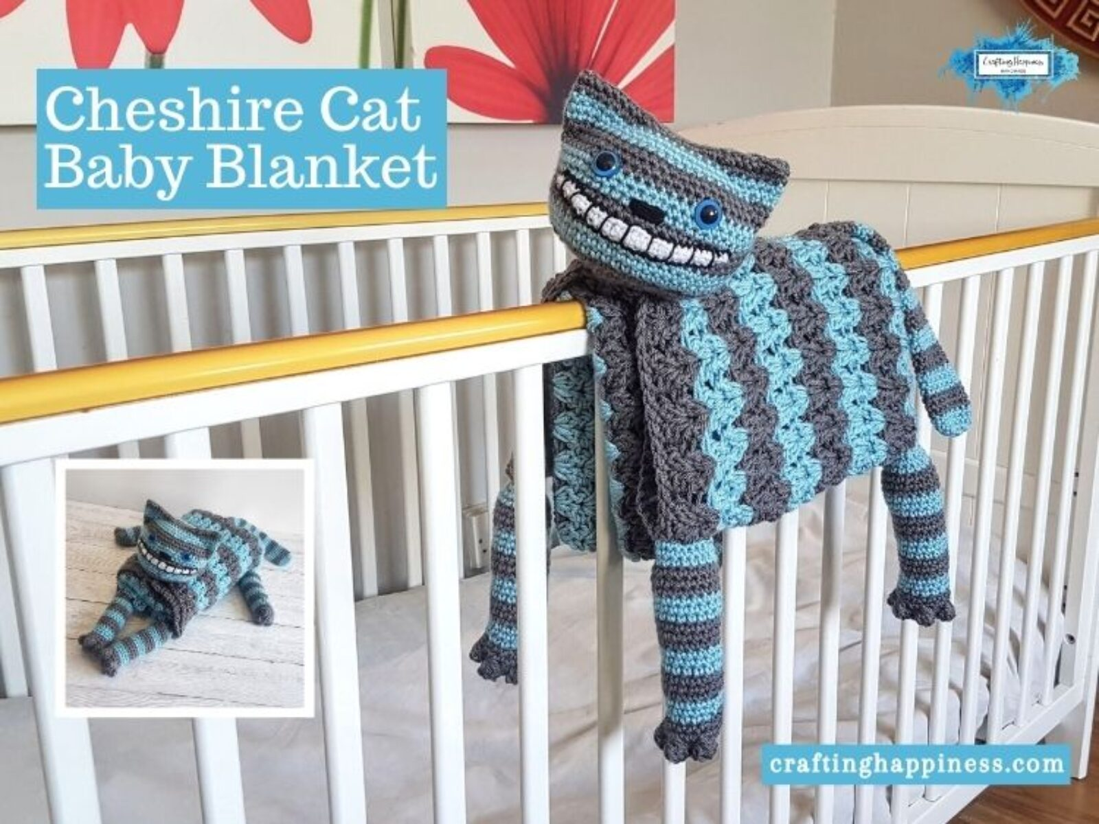 Cheshire Cat Baby Blanket - FACEBOOK BLOG POSTER